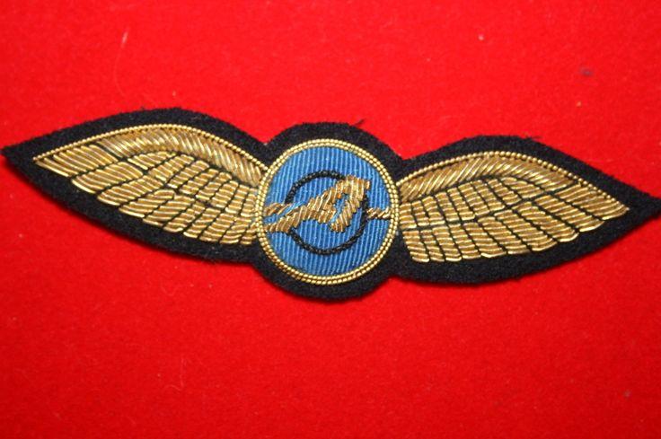 BRITISH CIVIL AIRLINE PILOT WING BADGE AIRTOURS AIR AIRWAYS BULLION WIRE Khalida Embroidery Works Cotact Us: khalidaeworks@gamil.com Ph:+92-315-7880152