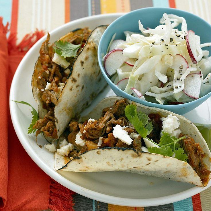 Shredded-Pork Tacos Recipe & Video | Martha Stewart