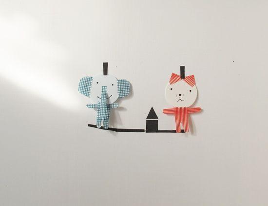 washi tape animals