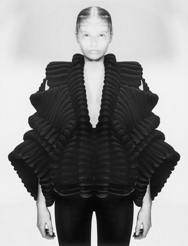 Sandra Backlund. Couture knitwear designer. Love this black piece.