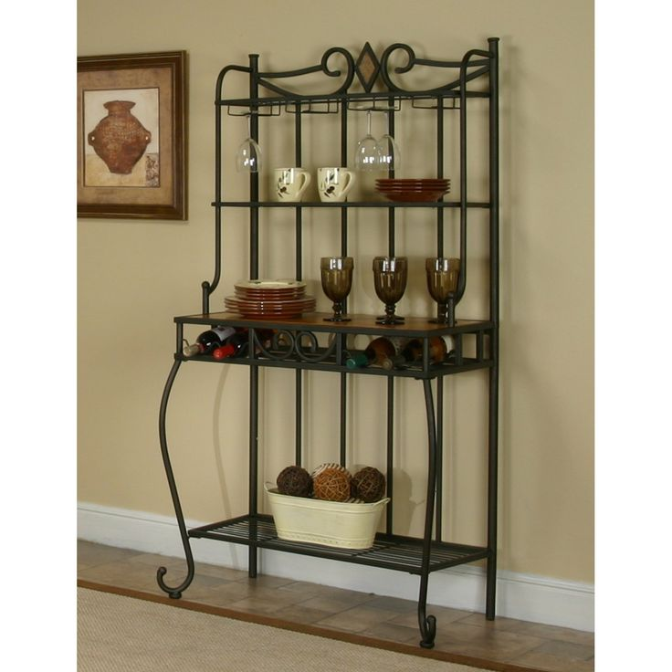 Sunset Trading Dart Bakers Rack - Add a beautiful solution to your storage, counter top and display needs with Sunset Trading's transitional Dart Bakers Rack. The shelves are sturdy...