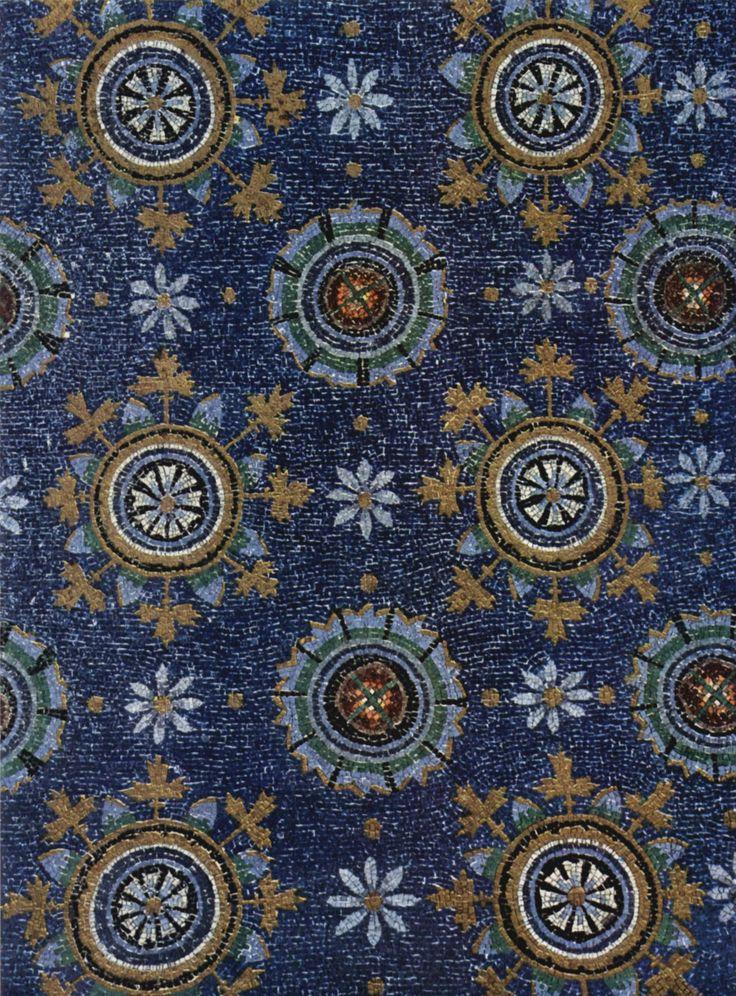 Mosaic close-up, Mausoleum of Galla Placidia c. 425 AD, Ravenna, Italy (Early Christian)