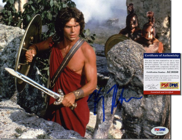 "HARRY HAMLIN Hand Signed 10x8 ""Clash of the Titans"" - PSA/DNA - UACC RD#289"