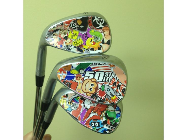 """If you are looking for a unique, inexpensive way to customize your golf clubs, adding a cool sticker is one of the easiest ways to do it. This instructable shows you how to add a sticker to a Titleist Vokey wedge. You will need: golf clubs (wedges are easiest) 4""""x3"""" piece of adhesive vinyl (LIZZIS CUSTOMS, LLC - via eBay) 91% isopropyl alcohol (available at drug stores, Walmart, etc.) very sharp razor blade (available at home improvement stores) heat gun (optional)..."""