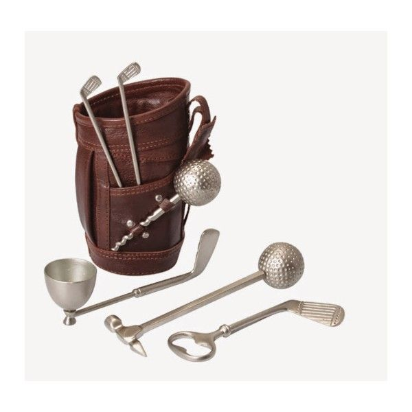 Leather Golf Bar Sets Lowest Price Of Promotional Golf Bar Sets. #leathergifts #leatherettegifts