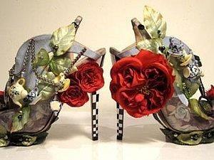Оригинальная необычная яркая обувь