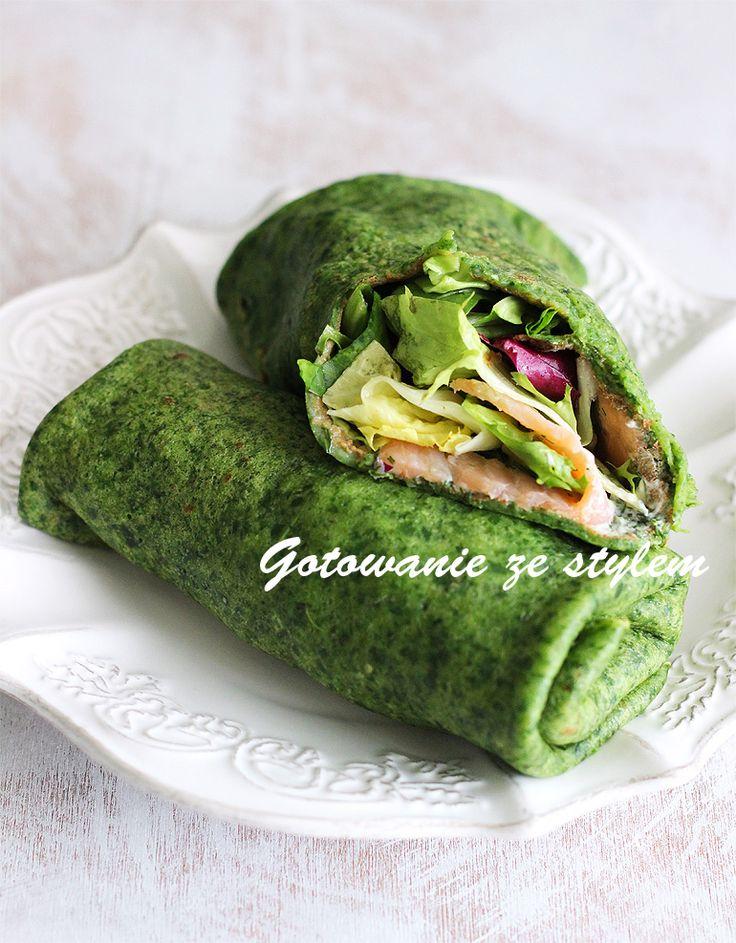 Pancakes with spinach and smoked salmon | gotowanie ze stylem