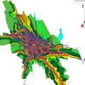 harta de zgomot pentru sursa de zgomot trafic rutier