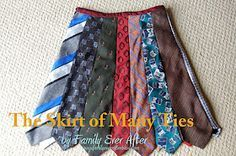 Tie skirt tutorial. I've been talking about making one of these for years! I even have a collection of ties already.