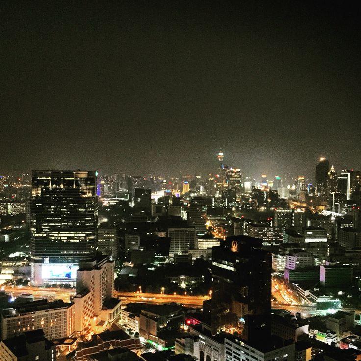 Splendid view from CLOUD 47 rooftop bar, Silom, Bangkok, Thailand