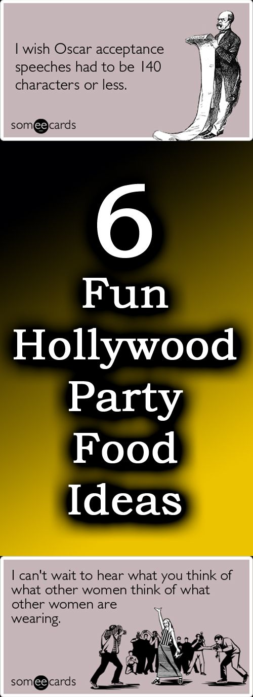 Fun Hollywood theme party food ideas - perfect for your next Hollywood theme party!  Just click!
