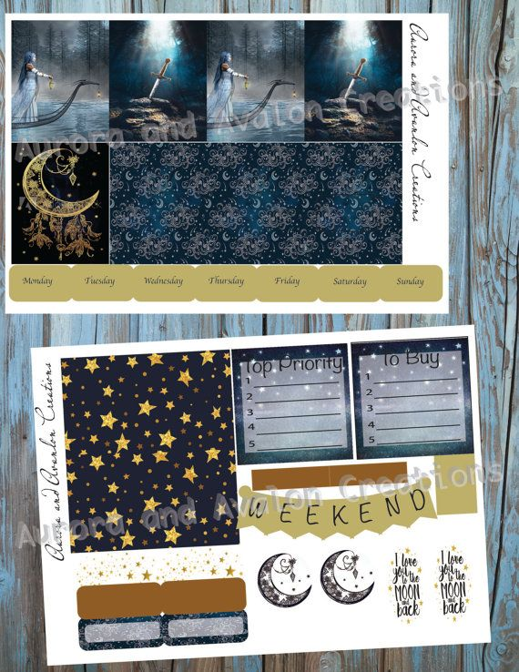 Morgan Le Fey weekly kit for Erin Condren and Happy Planner
