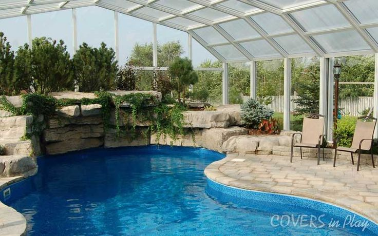 | Pool Cover | Pool Enclosure | Our patented framing, drive system enclosure opens with a button, just push it. Get your own now: 	http://www.coversinplay.com/blog/roof-enclosures/	#Pool #Pool Enclosure #Pool Cover #Indoor Pools #Patio Enclosures #Pool Designs #Swimming Pool #EndlessPool #Rectractable Pool #Enclosure #GroundPool