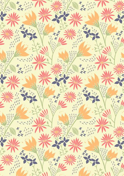 Autumn Floral Pattern Art Print