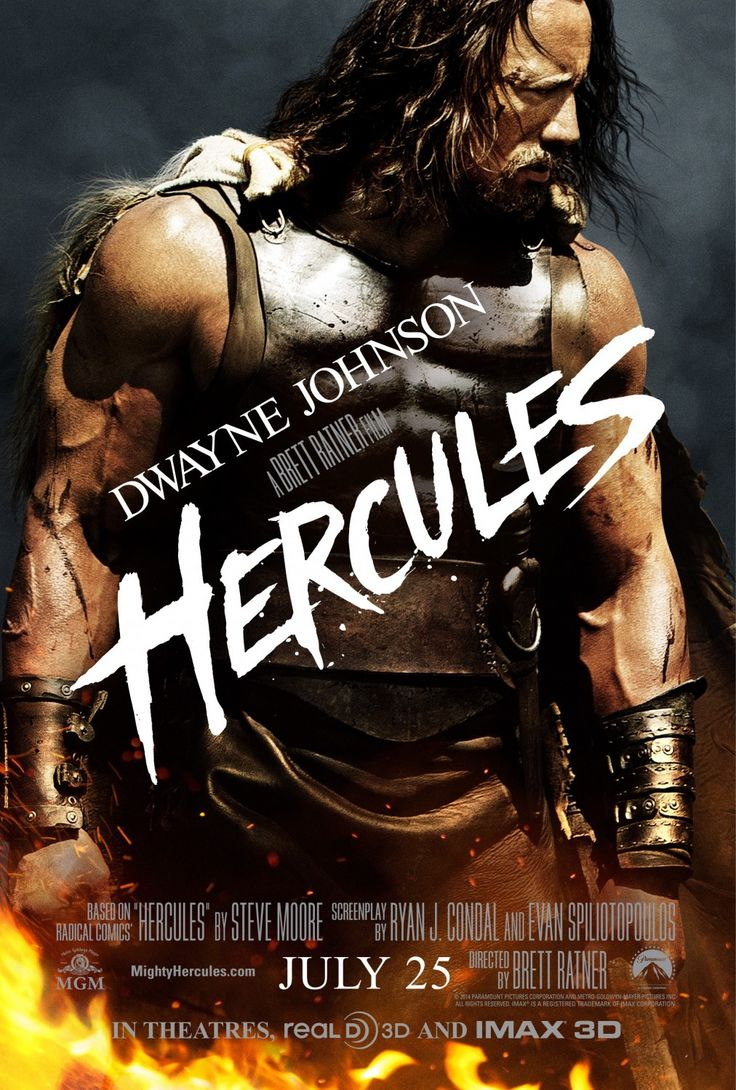 A modern depiction of Hercules in a movie played by Dwayne Johnson. This offers a more modern look on one of the strongest and toughest Greek heroes. There have been a multitude of movies recreating the story of Hercules, however, this is one of the most recent.
