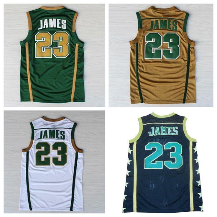 2e1c28e0fbe8 ... Irish High School 23 Lebron James GOLD Jerseys Find More Basketball  Jerseys Information about Lebron James High School Jersey St. Vincent St.  ...