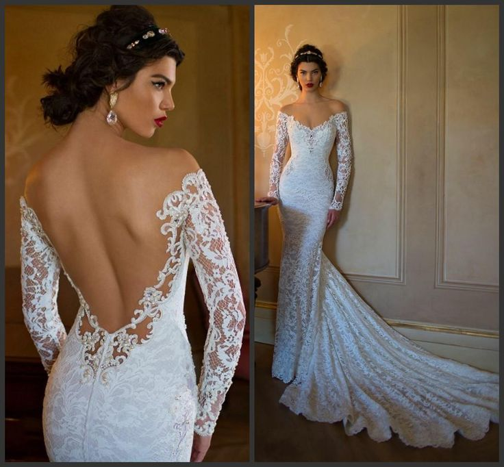 Details about Berta Like Backless Lace Sheer Wedding Dress, Delivery In About 25 Days