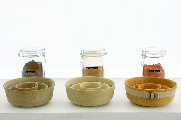 autarchy: Studio Formafantasma:Vessels made from Flour, Agricultural Waste and Limestone