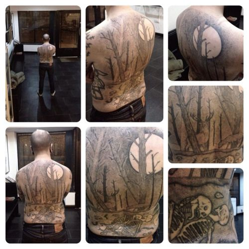 ROADMAPS FOR THE SOUL | A few shots of a backpiece I hand-poked 18 months...