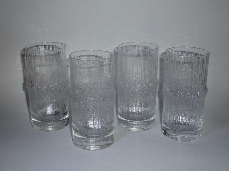 Tapio Wirkkala Niva Glasses 4 Pcs 120 mm Iittala Finland   eBay