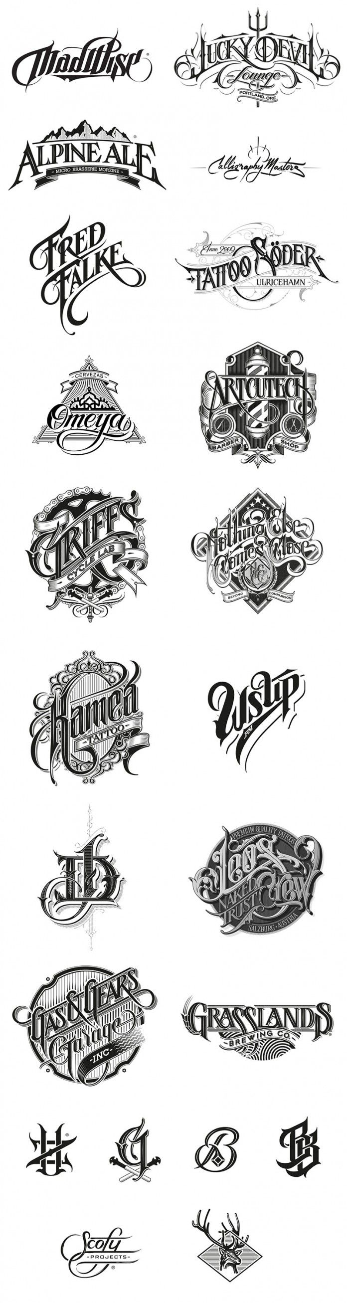 Hand Drawn Logotypes By Martin Schmetzer Lettering Hand Drawn Logotype Lettering Design