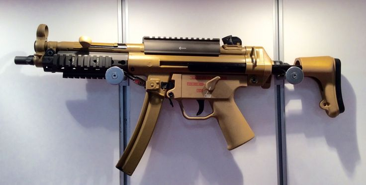 H&K has unveiled a new upgrade package for the MP5 to modernize and improve the weapon, and was showing it off at the Association of the United States Army's 2015 annual meeting. SoldierSystems.net reports: This is the MP-5 Mid-Life Improvement. While they haven't changed the weapon mechanically, they've upgraded to a new three position collapsible …   Read More …