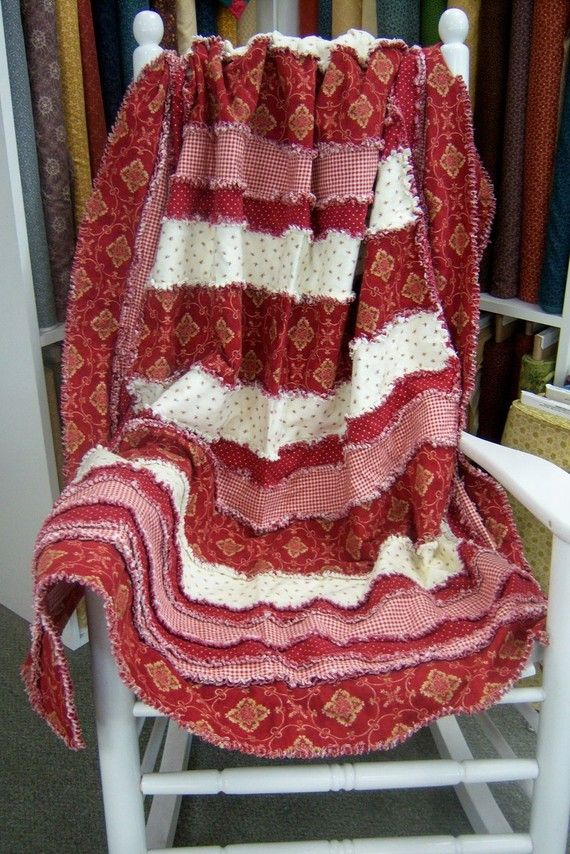 StripEase Rag Quilt Pattern by KrisKreations2008 on Etsy, $9.00                                                                                                                                                                                 More