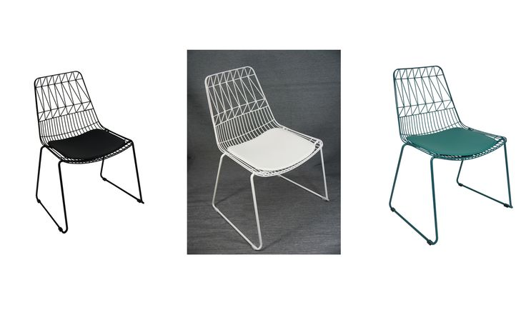 Net Outdoor Galvanised Chair Replica Bend Wire Lucy Dining Chairs Stackable