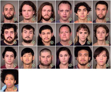 Mugshots, IDs released of 25 arrested in Portland anti-Trump protests
