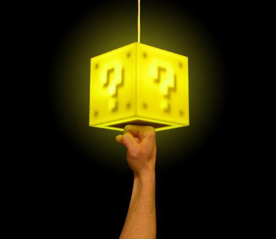 Interactive 8-bit Question Block Lamp  $74.99