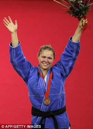 Ronda Rousey taking the bronze in women's judo at the Beijing games in 2008. RondaRousey.net / #ArmbarNation