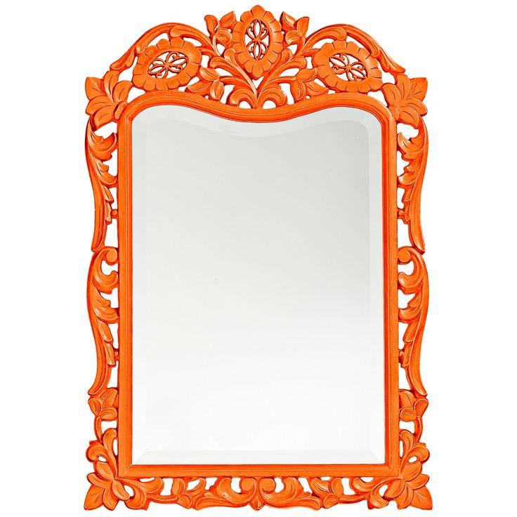 "Howard Elliott St. Agustine 20"" x 29"" Orange Wall Mirror - Style # 5K091"