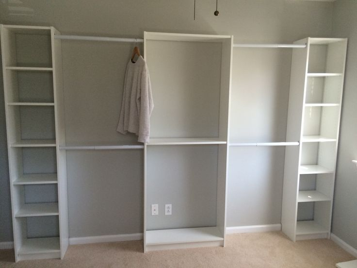 Converted 3rd Bedroom into walk in Ikea Closet