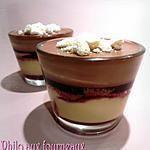 recette Verrine de crème brûlée, confit de fruits rouges & mousse au chocolat sans oeufs