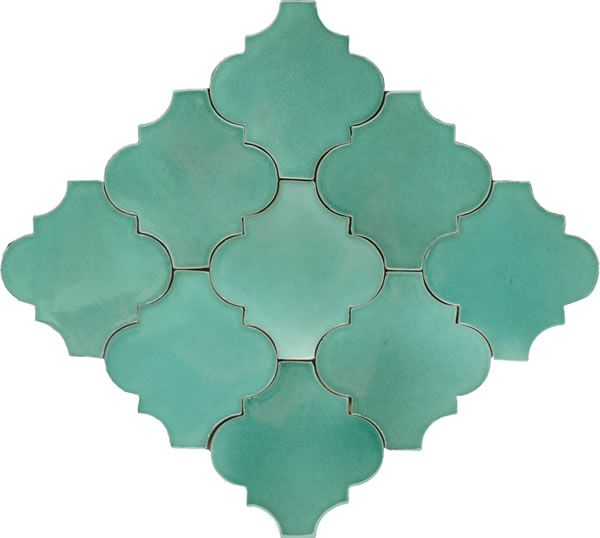 Mexican Tile - Light Green Andaluz Terra Nova Mediterraneo Ceramic Tile