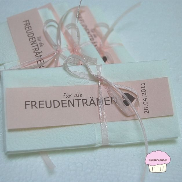 Hochzeitsdeko – *PDF* Hochzeit Freudentränen-Taschentücher *PDF* – ein Designerstück von littlewedding bei DaWanda