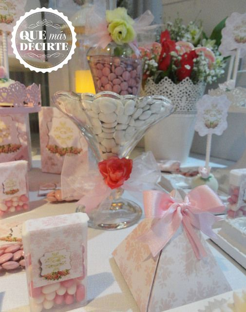 Shabby Chic Quinceañera Party treats!  See more party ideas at CatchMyParty.com!