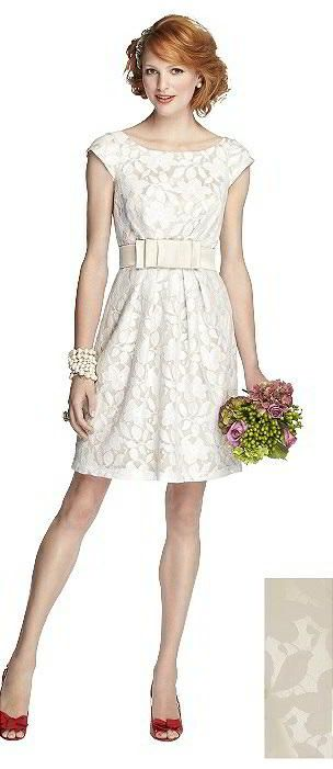 The perfect dress for a modern bride who is running off to City Hall or for a spring bridal shower - 57 Grand Style 5704