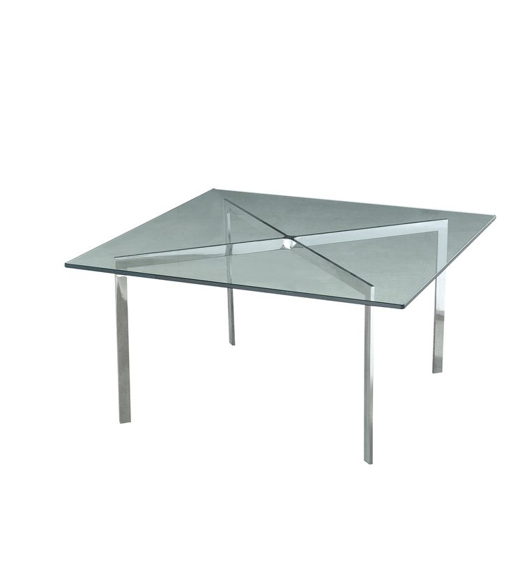 Ultra glass square table with cross design leg finishing for the modern office. #office #design #commercial #furniture