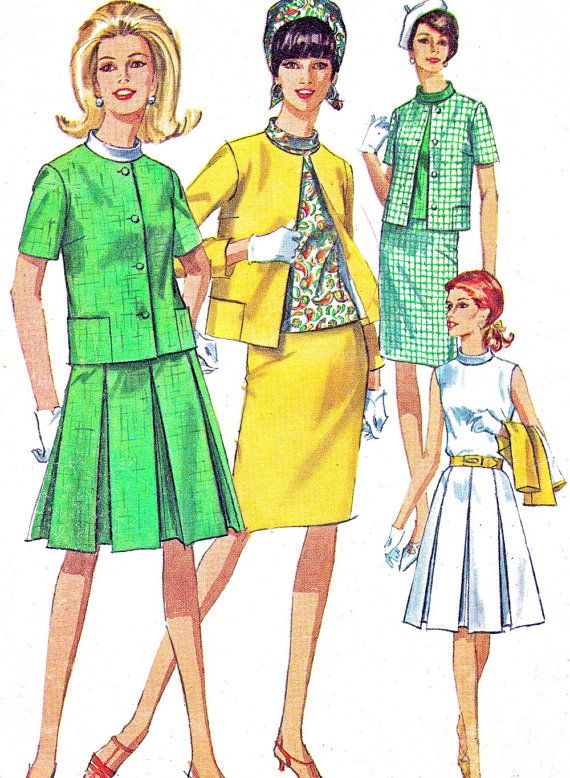 1960s Womens Suit Pattern Simplicity 6888 by paneenjerez on Etsy, $12.00