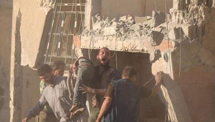 468 warga sipil gugur dalam serangan udara rezim Asad dan Rusia sepanjang September  DAMASKUS (Arahmah.com) - Jaringan Suriah untuk Hak Asasi Manusia (SNHR) kelompok pemantau perang Suriah mengatakan dalam laporan terbarunya bahwa pasukan rezim Asad dan Rusia bertanggung jawab atas 46 pembantaian dari 49 yang terjadi sepanjang September.  Laporan ini mengidentifikasi pembantaian dalam berbagai serangan yang mengarah ke pembunuhan sedikitnya 5 warga sipil dalam waktu yang sama. Rezim Asad…