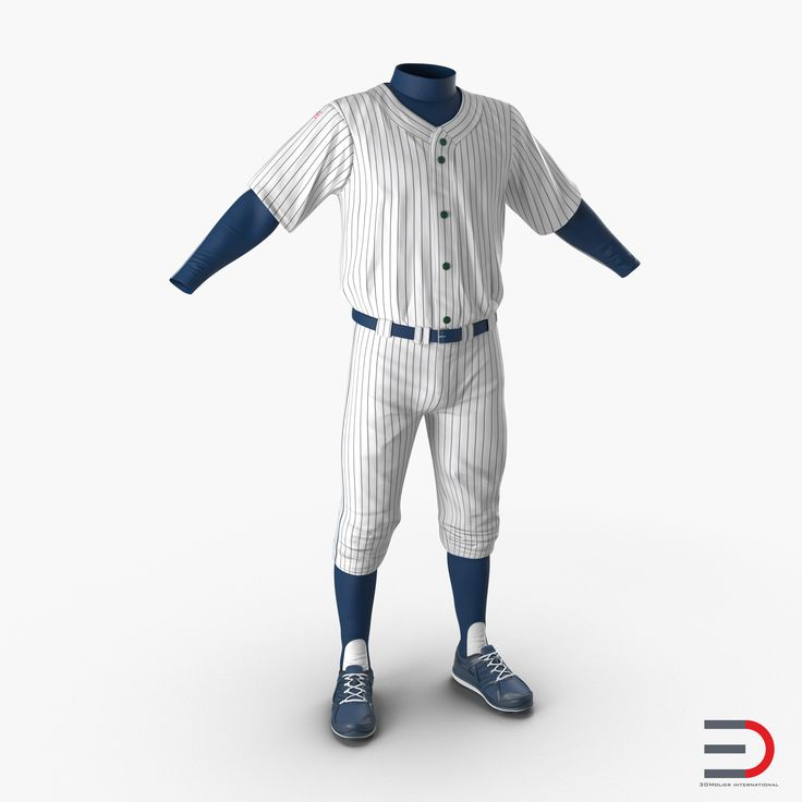 Baseball Player Outfit 3d model