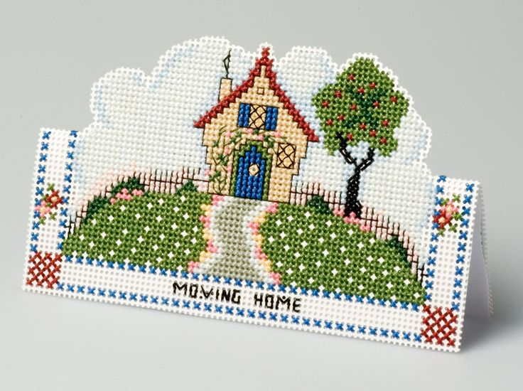 Moving home card from 3D Cross Stitch Cards by Meg Evershed of the Nutmeg…