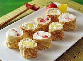 Waffle Breakfast Sushi Rolls