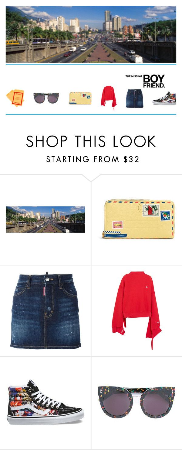 """""""the missing boyfriend"""" by sharmarie ❤ liked on Polyvore featuring Vera Bradley, Dsquared2, Vetements, Vans, STELLA McCARTNEY and Classified"""