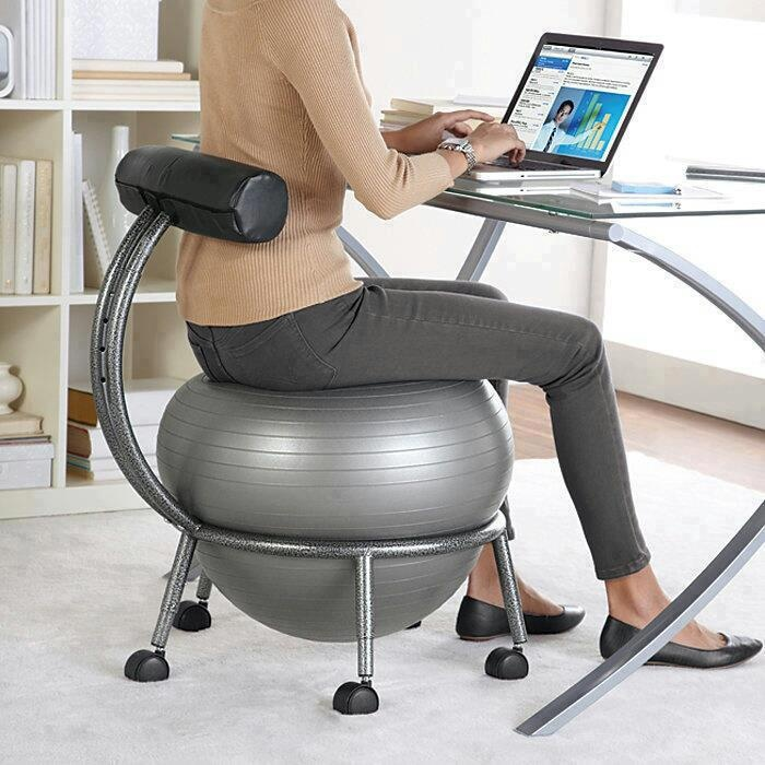 FitBALL Balance Ball Chair Bring The Workout To Your Office With The  FitBALL® Yoga Ball Chair Amazing Design