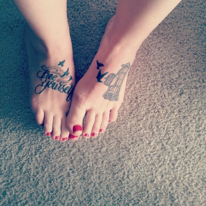 "New School Pin Up Tattoo Foot tattoo. ""Fre..."
