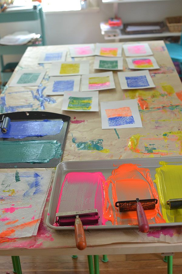 Styrofoam Printing with Kids