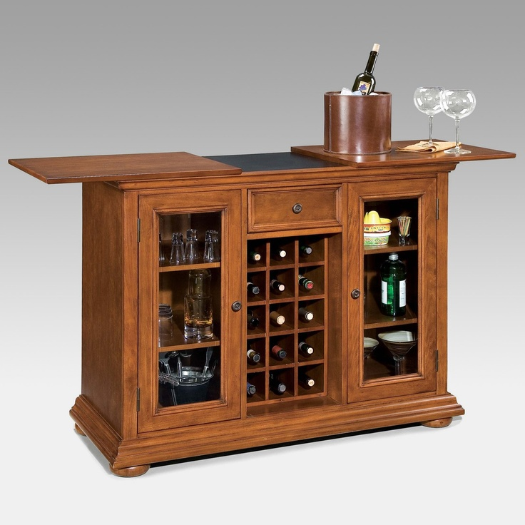 home styles homestead bar cabinet distressed warm oak finish