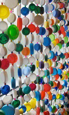 Recycle plastic lids